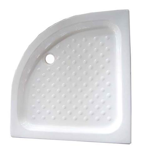 Heavy ceramic quadrant shower tray