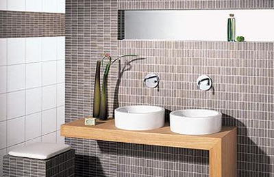 Bathroom Tiled With Mosaic Tiles