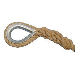 Eye loop and rope eye added to rope