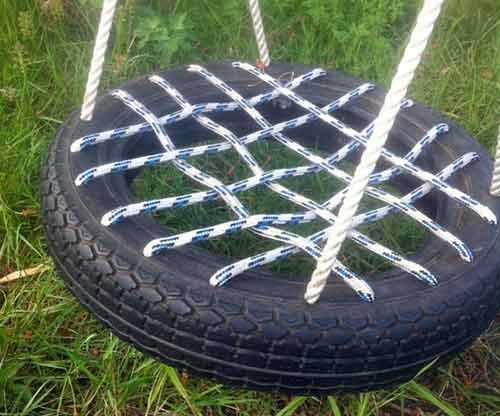 Rope seat for tyre swing
