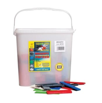 Trade tub of packers and shims