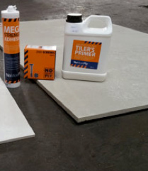 6mm insulated backer boards under a heating mat