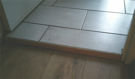 Step created after installing underfloor heating