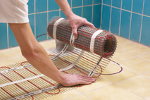 Lay devimat underfloor heating
