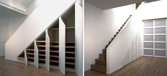Multi-cupboard understairs storage
