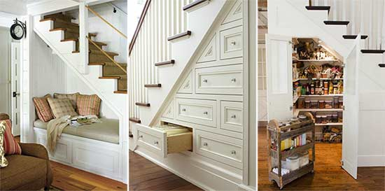 Great solutions for under the stairs