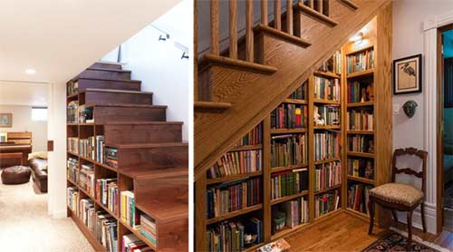 Home library and book storage