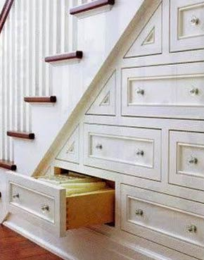 Drawers built understairs