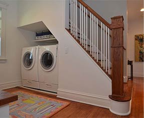 Pull out storage added to understairs area