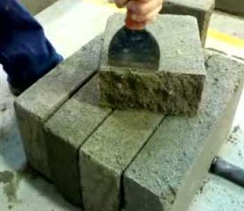 how to cut bricks with a bolster