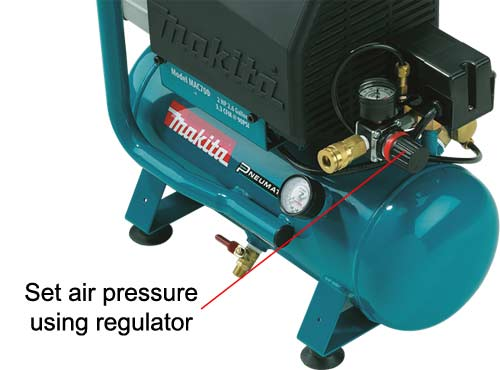 Set pressure regulator to desired setting