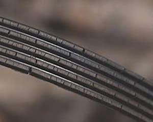 Badly worn rubber belt