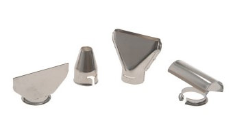 A selection of heat gun nozzles