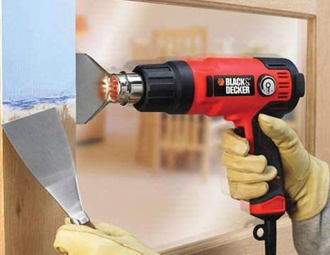 Using a glass nozzle on a heat gun