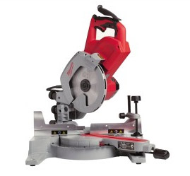 Sliding compound mitre saw for long mitre cuts