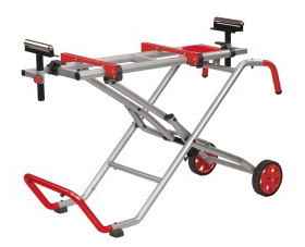 Collapsable mitre saw legstand with wheels