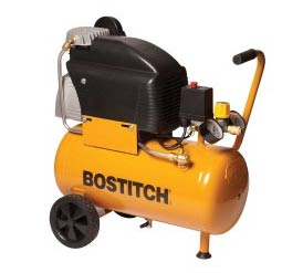 Compressor to supply pressurised air for nail gun