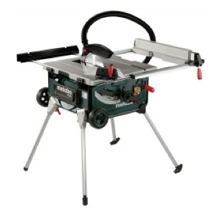 Contractors table saw with legs