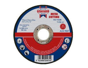 Metal cut off disc