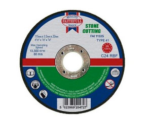 Stone cut off disc