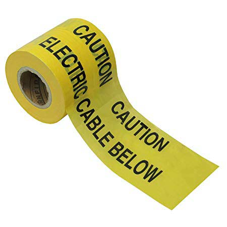 Electrical warning tape for cable in ground