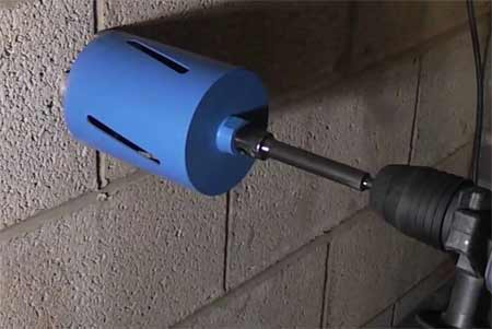 Using a core drill