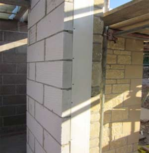 Insulated vertical DPC in position