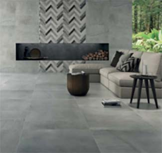 Concrete effect wall tiles