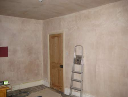 Newly plastered walls