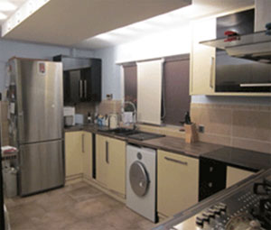 Complete and installed kitchen and wall units