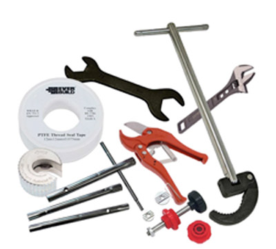 Home plumbing repair and maintenance kit