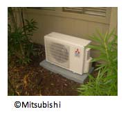 Mitsubishi Air Source Heat Pump unit