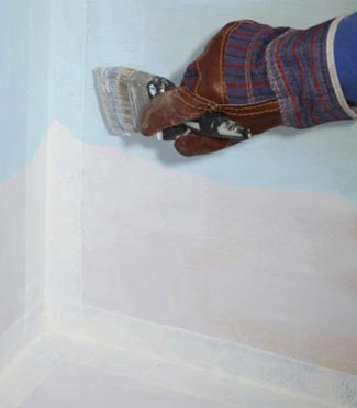 applying rubber membrane Building a Wet Room thats Waterproof
