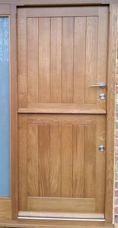 Stable door without fitted weatherboard