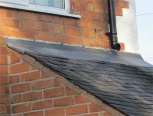 Repair your flashing either using lead sheeting or cheaper flashing tape