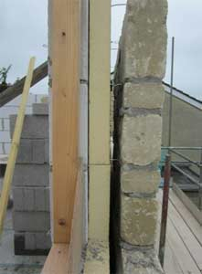 If debris gathers on your wall ties this can create damp patches