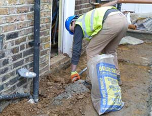 Digging out for a French Drain