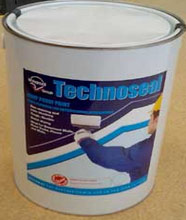 Technoseal rubberised paint for a waterproof seal