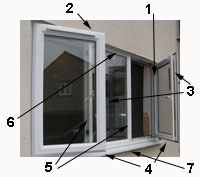Stages of painting a casement window