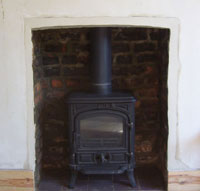 Finished and installed woodburner