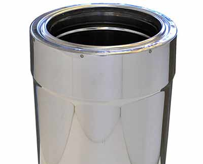 Twin wall or double skin flue pipe