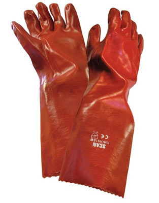 PVC gauntlet gloves by Scan
